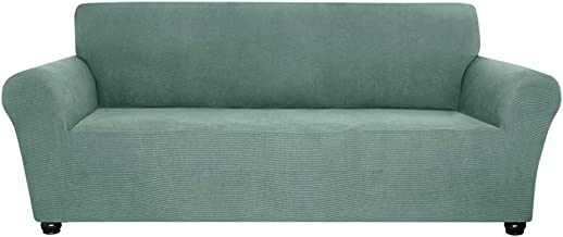 Docooler Stretch Sofa Slipcover Spandex Anti-Slip Soft Couch Sofa Cover 3 Seater Washable for Living Room Kids Pets(Light ...