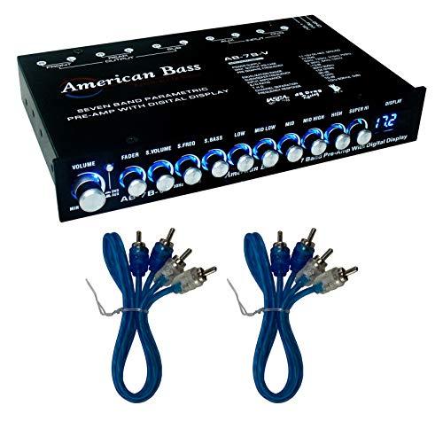 7 Band Digital Equalizer w/Built-in 7V Line Driver + 2X 18 2 Ch RCA M2M