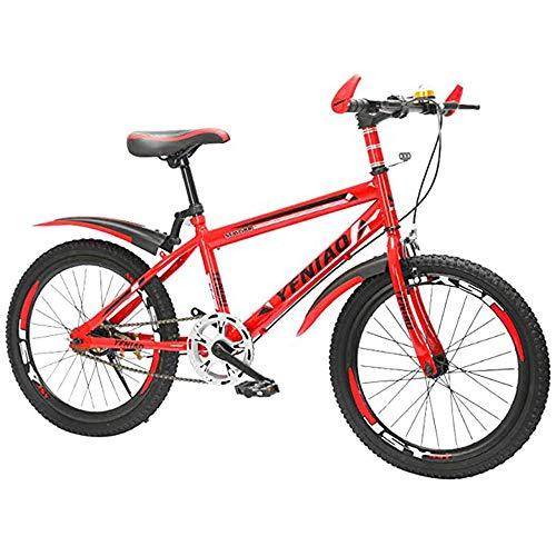 MW Fahrrad, Rennrad, Outdoor Radsport Mountainbike Kühle Rennrad 7-Gang-Schalt Shock Dual Disc Leichte, Tragbare Fahrrad 24 Zoll,Rot