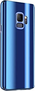 Matop Compatible for Galaxy A6 Plus/A6+ Case, Ultra Slim Electroplate 360°Full Body Protection Mirror 2 in 1 with Screen Protector Hard PC Plating Shockproof No-Slip Cover for Galaxy A6 Plus/A6+