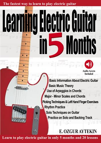 Learning Electric Guitar in 5 Months: The Fastest Way to Learn to Play...