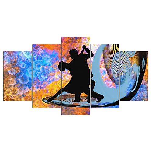 SKVT Wandkunst Leinwand Hd Drucke 5 Stück/Stücke Fantastische Tango Dance Moderne Modulare Malerei Decor Bild Günstige Rahmen Poster,30x50 30x70 30x80cm