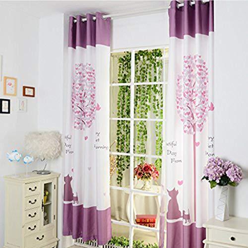 cortinas habitacion niña lila