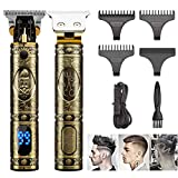 J TOHLO Men's Hair Clipper, Wireless T-Blade Hair Clipper Contour Trimmer, with LED