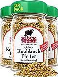 Block House Grüner Knoblauch Pfeffer 3x 50g Gewürzmischung - im Glas in Restaurantqualität