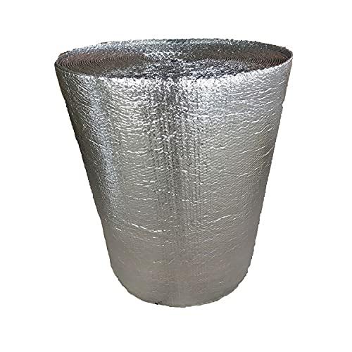 5mm Rollo Aislante Termico Aislamiento Doble Cara Burbujas Aire Paneles Fieltro Autoadhesivos Resistente Humedad Resistente Al Agua para Techo,Pared Y Fachada Rollo Aislante(Size:1X5M/3.28X16.4FT)