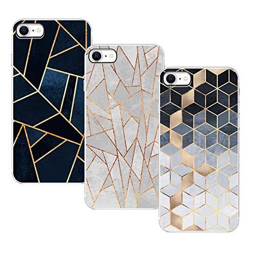KZIOACSH Cover per iPhone SE 2020 / iPhone 8/iPhone 7, [3 Pack] Silicone TPU Morbido Flessibile Custodia Ultra Sottile Cassa Protettiva Custodia Cover compatibel per iPhone SE 2020/ iPhone 8/iPhone 7
