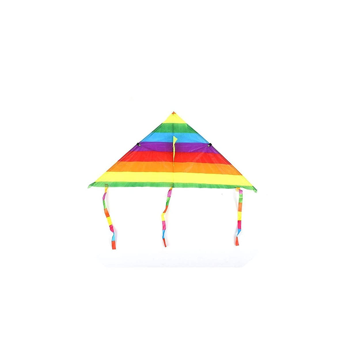 Liliy-luckly Colorful Rainbow Kite Long Tail Polyester Outdoor Kites Flying Toys for Kids Stunt Surf Kite