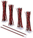 SamIdea 60Pieces 30-Pair Mini Micro JST 1.25mm 2 Pin Micro Male Female Connector Plug Extension Cable with Red Black Terminal Adapter Wire Cable 150mm/5.9'