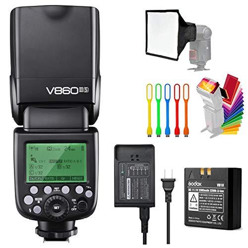 Godox V860II-S High-Speed Sync GN60 1/8000 2.4G TTL Li-ion Battery Camera Flash Speedlite Light
