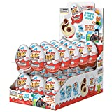 Kinder JOY Eggs, 30 Count Individually Wrapped Bulk Chocolate Candy Eggs With Toys Inside, Perfect Surprise Halloween Treats for Kids, 21 oz