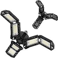 Ultra Bright LED Garage Light with 6 Adjustable Deformable Panels