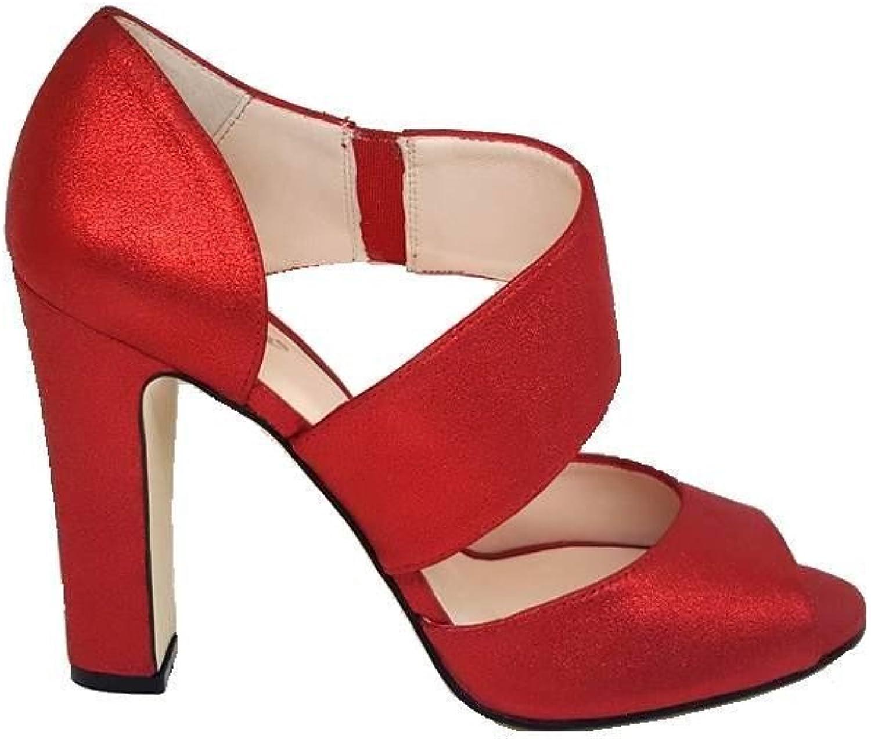 GENNIA NENET - Women Leather Sandals Open Toe with Stiletto Heel