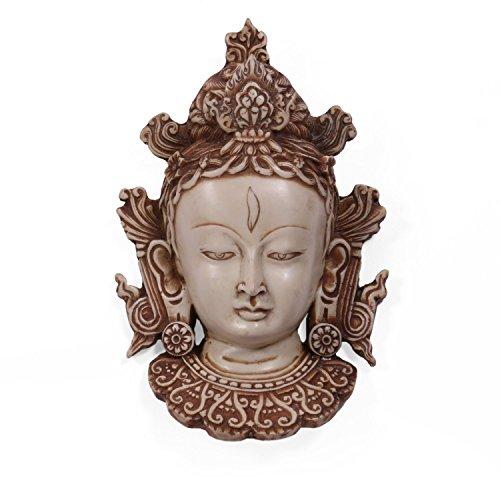 AapnoCraft Beautiful Tara Buddha Wall Mount Resin Tara Buddha Wall Hanging/Wall Mask for Wall Art Decor Feng Shui Gifts