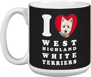 Tree Free Greetings XM29140 I Heart West Highland White Terriers Artful Jumbo Mug, 20-Ounce
