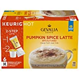 Gevalia Pumpkin Spice Latte Espresso Keurig K Cup Coffee Pods & Froth Packets (36 Count, 6 Boxes of 6)