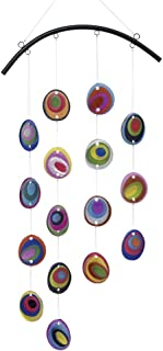 Bits and Pieces - Beautiful Fused Hanging Glass Garden Art - Colorful Window Suncatcher and Wind Chimes