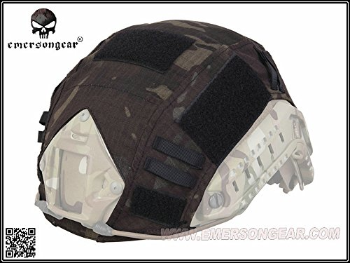 EMERSON製FASTヘルメット用メットカバーヘルメットカバーMultiCamBlackマルチカムブラックタイプ迷彩
