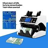 Banknotenzähler für Gemischte Geldscheine mit Wertzählung MUNBYN UV MG IR UV MW 3D SN 2 CIS Geldzählmaschine Banknotenzählmaschine für Euro-Banknoten - 2