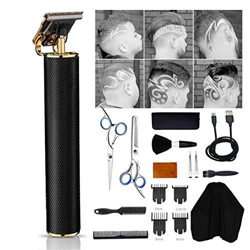 Tondeuse voor mannen, USB oplaadbare haartrimmer | Draadloze baardscheerapparaat | Baardtrimmer | Elektrische kapselkit voor volwassen kinderen CHC-4256,Black
