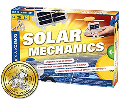 Thames & Kosmos Solar Mechanics | Science Experiment Kit | Build 20 Models Powered by The Sun | Ages 8-12+ | 60 Page Full Color Stem Manual | Parents' Choice Gold Award Winner