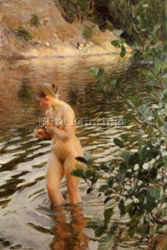 Elite-Paintings Zorn FRILEUSE Artista Quadro Riproduzione Dipinto Olio Tela A Mano Maestri Arte 60x40cm Alta qualita