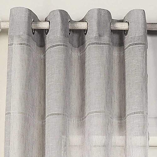 PimpamTex - Tenda traslucida per Soggiorno, Camera da Letto e Camera, Tende Moderne e Originali con Disegni Diversi, 1 unità, Tende con Occhielli - (140 x 260 cm, Kenitra Perla)