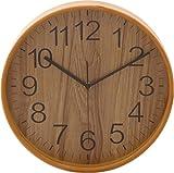 不二貿易プライウッド掛時計 Φ28cm NA ナチュラル 85366 1個 不二貿易