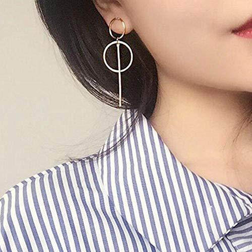 BXing Charm de Moda Color Dorado Pendiente de botón geométrico Pendientes de Amor romántico Accesorios de joyería de Moda para Mujer, Oro