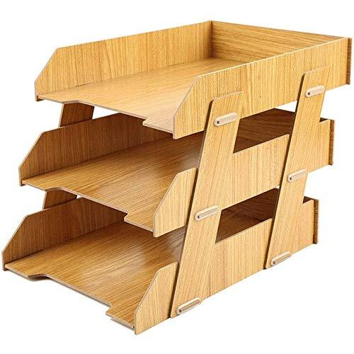 JJSFJH Rústico escritorio de oficina de madera titular de