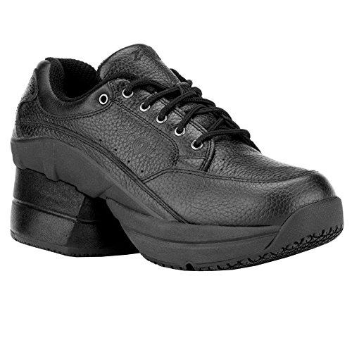 Z-CoiL New Men's Legend Slip Resistant Enclosed Coil Black Leather Tennis Shoe...
