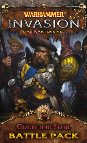 Asmodee HE242 - Warhammer Invasion: Glaube und Stahl, Battle Pack, Kartenspiel