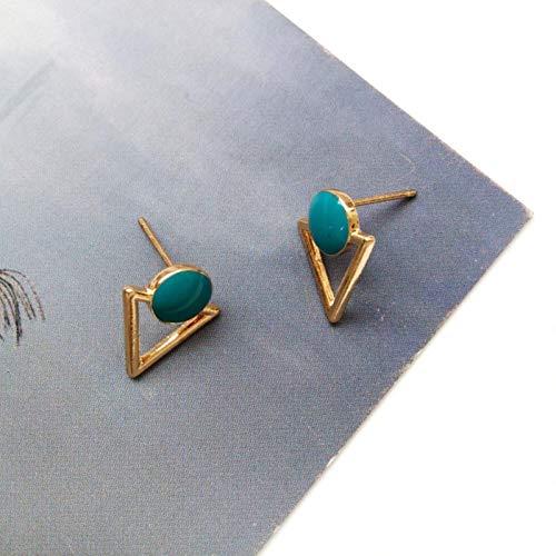 TGBN European earrings popular women fashion fashion earrings female temperament geometric triangle pendant
