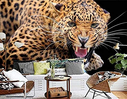 Papel pintado 3D Foto personalizada Ropa de cama Mural de habitación Retro Cheetah Animal 3D Pintura Sofá Pared Pintado Papel tapiz 3D Decoración dormitorio Fotomural sala sofá mural-400cm×280cm