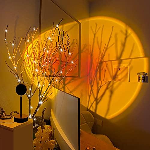 Sunset Projection Lamp, KOFOHO Sunset Light Projector, 180-Degree Rotation USB Night Light Romantic...