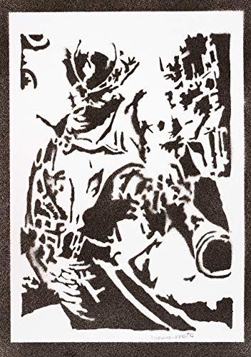 Poster Bloodborne El Cazador Grafiti Hecho a Mano The Hunter Handmade Street Art - Artwork