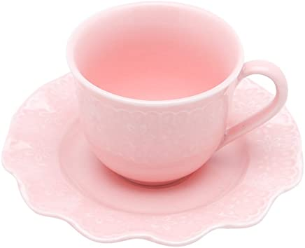Conjunto 6 Xícaras para Café de Porcelana Princess Lyor Rosa 90Ml