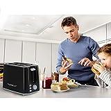 Aigostar Warrior 30JRL – 2-Scheiben Toaster, 7 Toast Bräunung Einstellung, Auftauen, Aufwärmen und Abbrechen Funktionen 750W, Schwarz, BPA frei. EINWEGVERPACKUNG. - 6