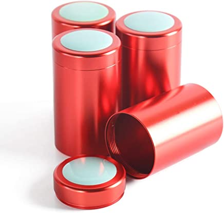 60e10b245a68 Amazon.com: Red - Food Tins / Bulk Food Storage: Home & Kitchen