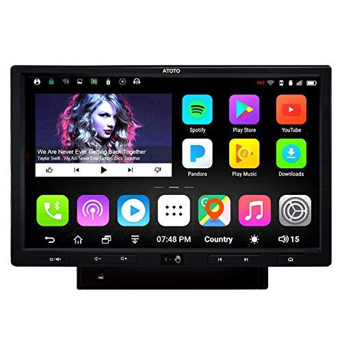 [10pollici] ATOTO A6 Pro A6Y1021PRB-G,navigazione/video per auto nel cruscotto Android,con doppio Bluetooth - Ricarica rapida del telefono,autoradio,WiFi,operazione gestuale,supporto 256G SD