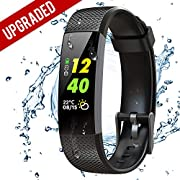 BuTure Fitness Tracker, Pedometer for Walking, Heart Rate Monitor Watch, Step Counting for Walk, Calorie Counter, Sleep Quality Monitor, Waterproof Activity Tracker for Kids, Women and Men