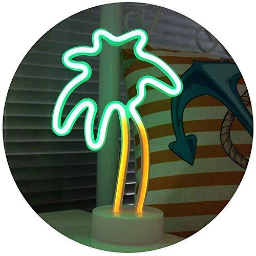 LED ネオン サイン ライト インテリア 雑貨 おしゃれ 看板 ネオン管 USB充電 電池 照明 ネオンチューブ テーブルランプ ナイトランプ デコレーション アメリカ 北欧 カフェ かわいい プレゼント ヤシの木
