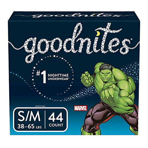 GoodNites Boys' Bedtime Bedwetting Underwear Super Pack - Size S/M - 44ct