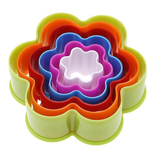 ?1jeu plastique Biscuit moulage moule gâteau cuisson outil prune fleur couleur aléatoire