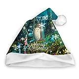 Qidsuf Totoro (116) Gorro de Navidad Gorro de Papá Noel para Adultos y niños