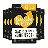 Chicken Bone Broth Soup by Kettle and Fire, Pack of 6, Keto Diet, Paleo Friendly, Whole 30 Approved,...