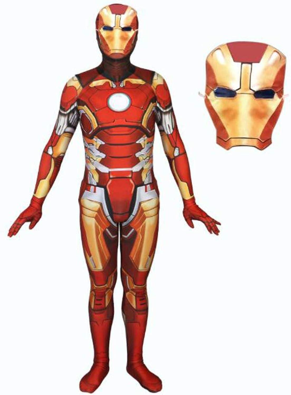 tienda GIFT ZHIZHUXIA ZHIZHUXIA ZHIZHUXIA Iron Spiderman CosJugar vestuario Impresión 3D Medias elásticas Juego de película de Halloween Accesorios de disfraces con másCochea Traje Body SpiderMan Oficial ( Color   rojo , Talla   S )  clásico atemporal