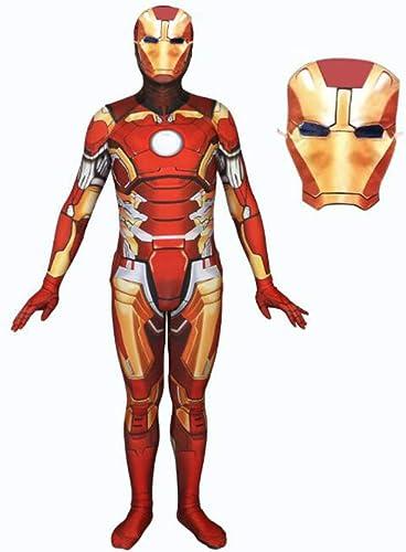 precios al por mayor TOYSSKYR Iron Spiderman Cosplay Vestuario Impresión 3D Medias elásticas elásticas elásticas Juego de película de Halloween Accesorios de Disfraces con máscara ( Color   rojo , Talla   L )  de moda