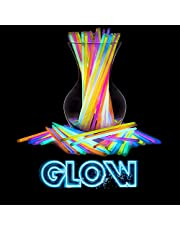 Swipply Glow Sticks Glow in The Dark Party Supplies Set of 100 Stick 8 Colors Fun Magic Cool Toys Games Bracelets Necklaces for Light Birthday Glow Party Favors Neon Halloween Decorations Kids Adults