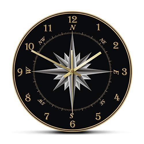 Relojes De Pared Mariner'S Compass Reloj De Pared Brújula R